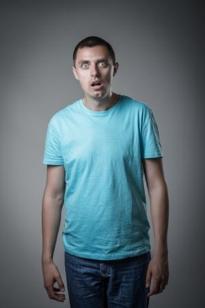 Junger Mann Angst Standard-Bild - 20667139