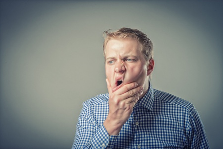 businessman with a strong toothache photo