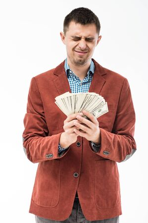 man holding money photo