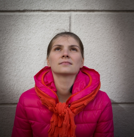 praying woman Standard-Bild