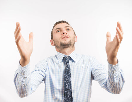 unrecognisable people: Praying man