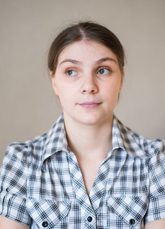 Young offended female photo