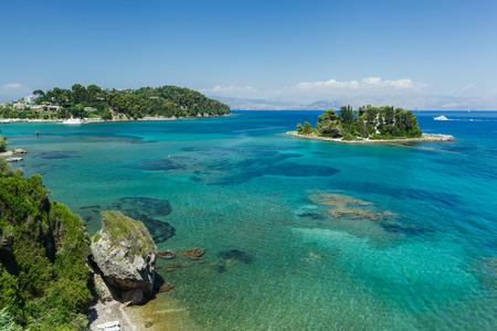 kerkyra: Pontikonisi. Mouse Island Corfu, Greece Stock Photo