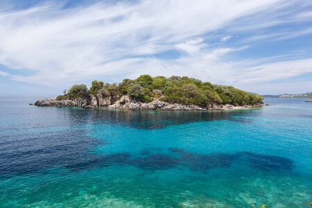 Beautiful Landscapes of Agia Paraskevi  island, Perdika, Sivota, Greece Standard-Bild
