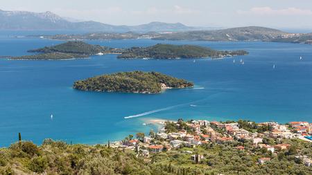 Nidri Town, marina and smaller Islands ,Lefkada Island, Greece