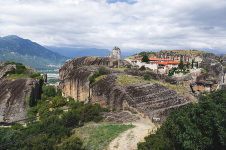 kalabaka: Holy Trinity Monastery in Meteora - Kalampaka, UNESCO World Heritage Site, Trikala, Greece