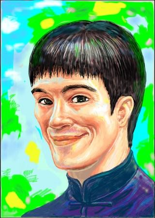 Smiling Bruce Lee