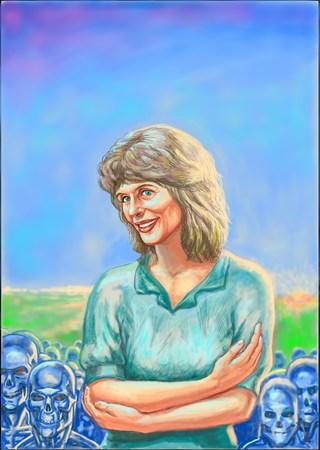 Linda Hamilton (Sarah Connor)