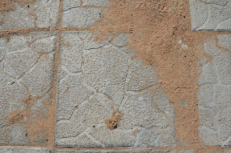 This picture shows a cobblestone texture with relief Imagens