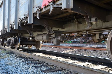 This picture shows a bottom of train container