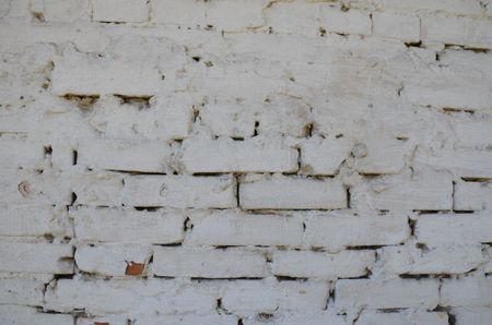 This picture shows a brick white wall texture Imagens