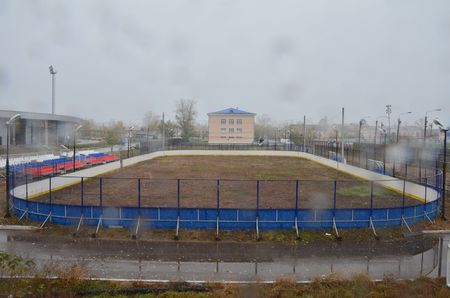 About a hockey pitch (in autumn) Stockfoto