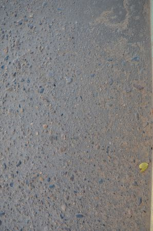 This picture shows a texture of asphalt with leaf