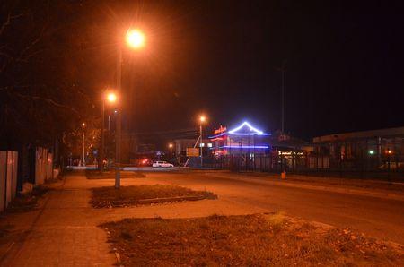 Night road of the city Redactioneel
