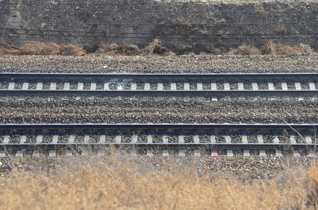 This picture shows a railroad with two lines