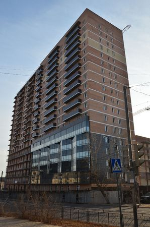 This picture shows a new high building
