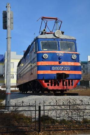 This picture shows an electric steam locomotive