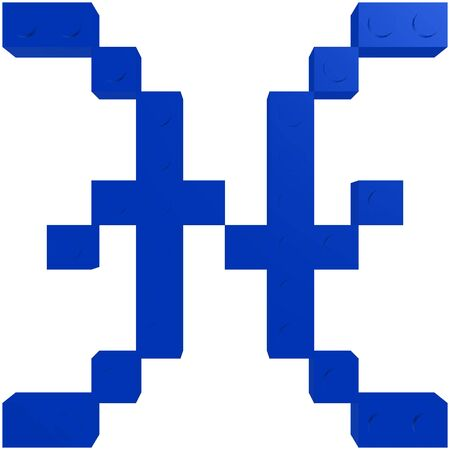 Here you can see one of Zodiac sign - The Pisces with blue color
