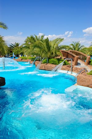 Aqua park open air jacuzzi, Antalya, Turkey