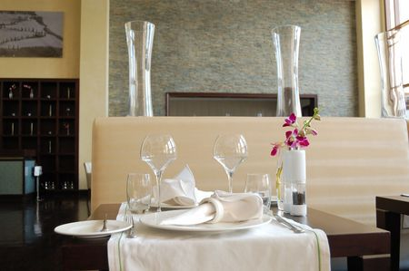 Restaurant in luxury hotel, United Arab Emirates photo