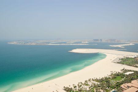 View on Jumeirah Palm artificial island, Dubai, UAE photo