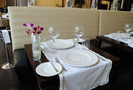 Restaurant in luxury hotel, Dubai, United Arab Emirates photo