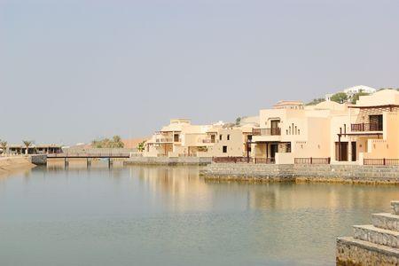 Vacation at villas in luxurious hotel, Dubai, UAE