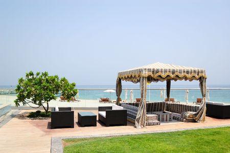 Hotel recreation area, Fujeirah, United Arab Emirates Stock Photo - 5708614