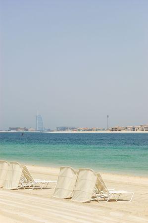 Beach of Atlantis the Palm hotel, Dubai, UAE photo