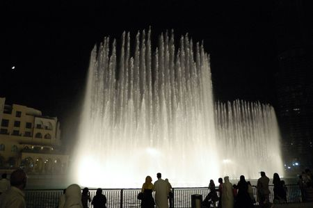 Dancing fountains in Dubai downtown, United Arab Emirates,