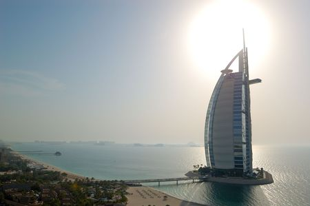 DUBAI, UAE - AUGUST 27: The world's first seven stars luxury hotel Burj Al Arab