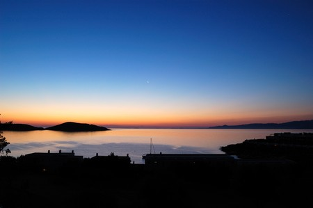 Sunrise at luxury resort, Crete, Greece photo
