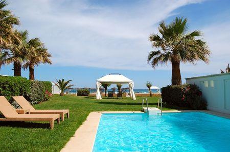 holiday villa: Swimming pool at luxury villa, Crete, Greece