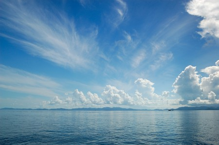 Clouds over Indian Ocean, Phuket, Thailand Stock Photo
