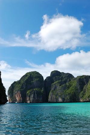 phi phi island: Maya Bay lagoon at Phi Phi island, Thailand