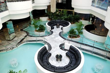 Lobby interior at luxury hotel, Tenerife island, Spain