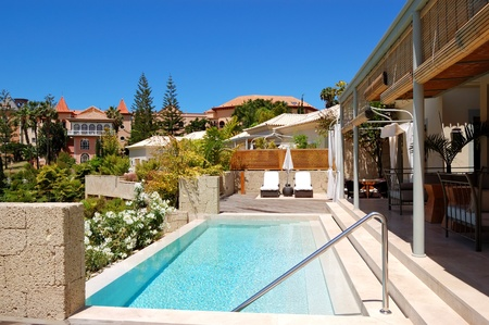 Swimming pool at the  luxury villa, Tenerife island, Spain
