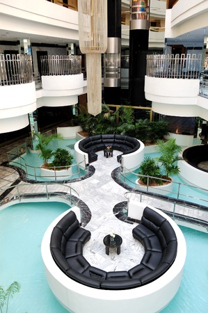hotel reception: Lobby interior at luxury hotel, Tenerife island, Spain