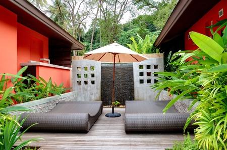 Outdoor recreation area of the SPA center, Phuket,  Thailand