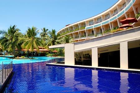 The luxury hotel with swimming pool and bar, Bentota, Sri Lanka