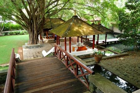 Lobby of the luxury villas, Bentota, Sri Lanka