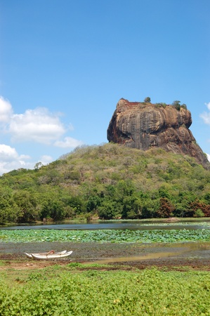 The Sigiriya (Lion's rock) is an ancient rock fortress and palace ruins, Sri Lanka Stock Photo - 11301368