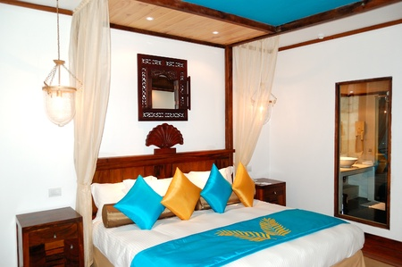 Apartment interior in the luxury hotel, Bentota, Sri Lanka