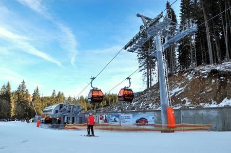 JASNA-JANUARY 9: Jasna Low Tatras is the largest ski resort in Slovakia with 36 km of pistes, January 9, 2011 in Jasna, Slovakia