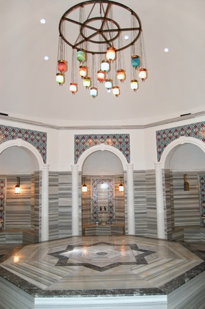 Turkish bath (Hamam) at hotel's spa area, Antalya, Turkey