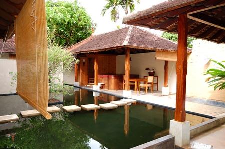 SPA with outdoor jacuzzi at  luxury hotel, Bentota, Sri Lanka