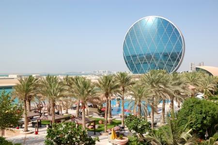 The luxury hotel and circular building, Abu Dhabi, UAE