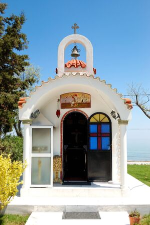 christianism: The small church at hotel, Pieria, Greece