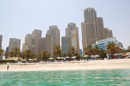 Playa del hotel de lujo, Jumeirah, Dubai, Emiratos �rabes Unidos