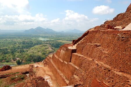The view from Sigiriya (Lion's rock) is an ancient rock fortress and palace ruins, Sri Lanka Stock Photo - 15197136